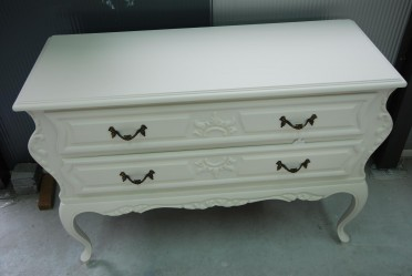 Brocante barok Queen Ann shabby chic wit dressoir/ladekast